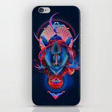 Blue gibbon iPhone & iPod Skin