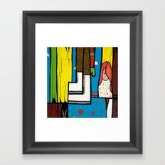 SEARCHING THROUGH a SHOEBOX FULL of MEMORIES Framed Art Print