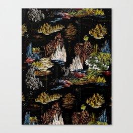 Schlitz Curtain Canvas Print