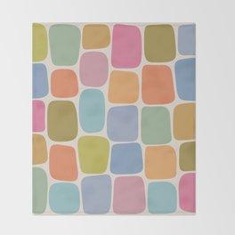 Minimal Blocks - Rainbow Throw Blanket