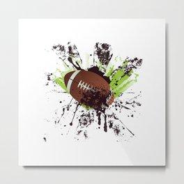 Grunge Rugby ball Metal Print