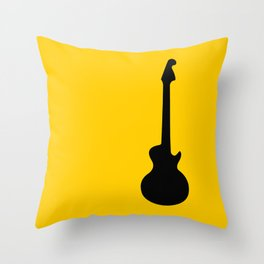 Simple Guitar Throw Pillow