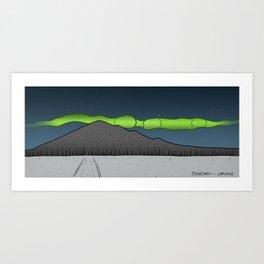 Pyhajarvi - Finnish Lapland - NIGHT Art Print