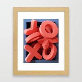 Framed - Noughts & Crosses Framed Art Print