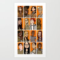 oitnb Art Prints featuring oitnb by stevie borbolla