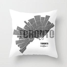 Toronto Map Throw Pillow