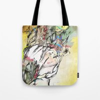 archan nair Tote Bags featuring Dusk by Archan Nair