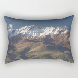 Volcano Chachani near city of Arequipa in Peru Rectangular Pillow