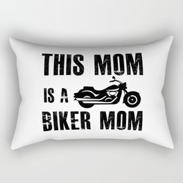 Mother with baby belly and daughter Rectangular Pillow