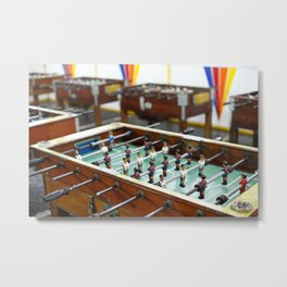 Soccer tables Metal Print