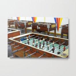 Soccer tables Metal Print