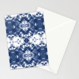 Shibori Tie Dye Indigo Blue Stationery Cards