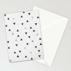 DOWN UP / scandi white / warm grey / flax / lavender Stationery Cards