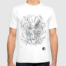 Battle damaged Ultron White SMALL Mens Fitted Tee