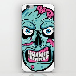 Scary Zombie Face with Rotting and Peeling Flesh iPhone Skin