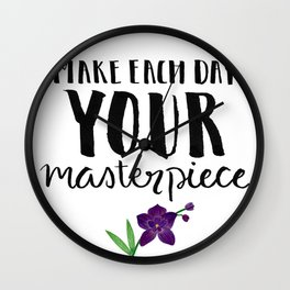 #KinaTurns24: Make Each Day Your Masterpiece Wall Clock