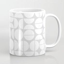 Circle Pattern   70s Vibes   Puzzle   Grey Art   Abstract Coffee Mug