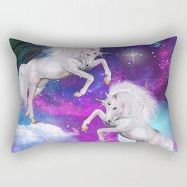 space unicorns v Rectangular Pillow