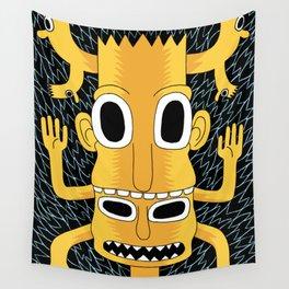 Cartoon Totem Wall Tapestry