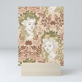 Goddess Head Planters - Nature's Pastel Neutrals Mini Art Print