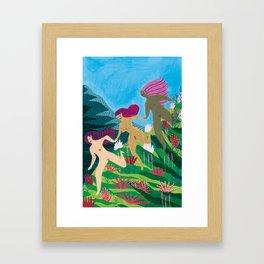 three graces Framed Art Print