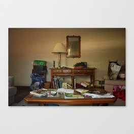 Friend's living room Canvas Print