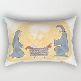 Away in a manger Rectangular Pillow