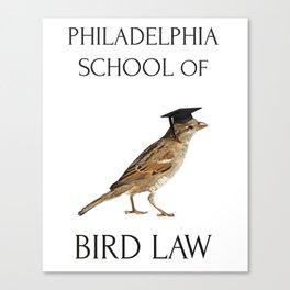 Philadelphia School of Bird Law Canvas Print