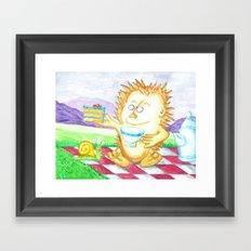 Hedgehog Tea Party Framed Art Print