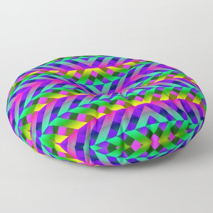 Rainbow Scaffolding Floor Pillow