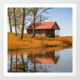 Old Arkansas Homestead Reflections Art Print