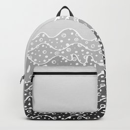 Grayscale Waves Backpack