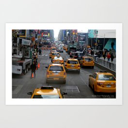 Taxi's of NYC Art Print