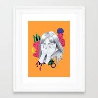 bjork Framed Art Prints featuring Bjork by Shoko Yanagisawa