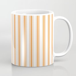 Bright Orange Russet Mattress Ticking Wide Striped Pattern - Fall Fashion 2018 Coffee Mug