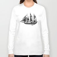 ship Long Sleeve T-shirts featuring Ship by LeahOwen