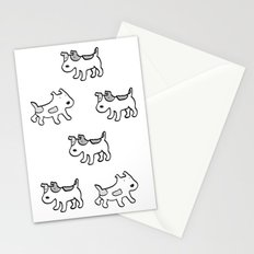 woofwoof dog meeting Stationery Cards