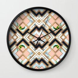 Art deco geometric pattern Wall Clock