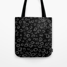 Black and Gray Leopard Tote Bag