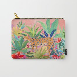 Leopard in Succulent Garden Carry-All Pouch