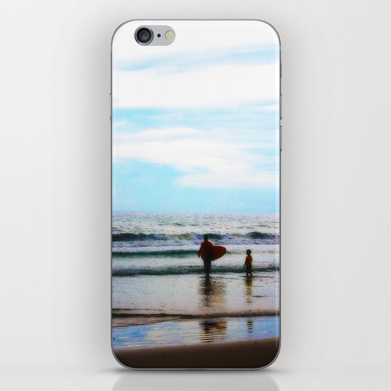 Father and Son Moments at the Beach iPhone & iPod Skin