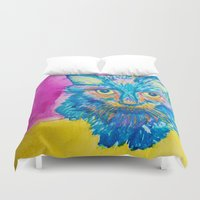 kitty Duvet Covers featuring KITTY by Nizhoni Creative Studio