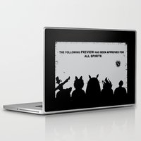 movies Laptop & iPad Skins featuring At the Movies by fishbiscuit