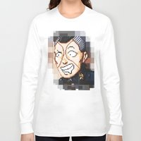 jjba Long Sleeve T-shirts featuring JJBA - Okuyasu Nijimura Pixel Art by Chooone