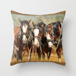 Clydesdale Conversation Throw Pillow