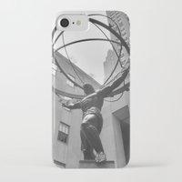 atlas iPhone & iPod Cases featuring Atlas by Jordan Carroll