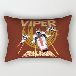 Viper Mk.II - Let's Frak Some Toasters! Rectangular Pillow