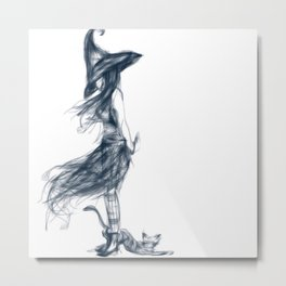 Witchy Thoughts Metal Print