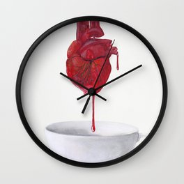 Drink from the Heart Wall Clock