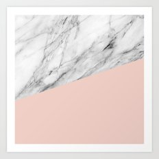 Marble and pale dogwood color Art Print